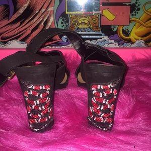 Snake Black Heels